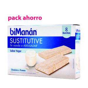Pack Ahorro biManán Sustitutive Yogur, 16 barritas